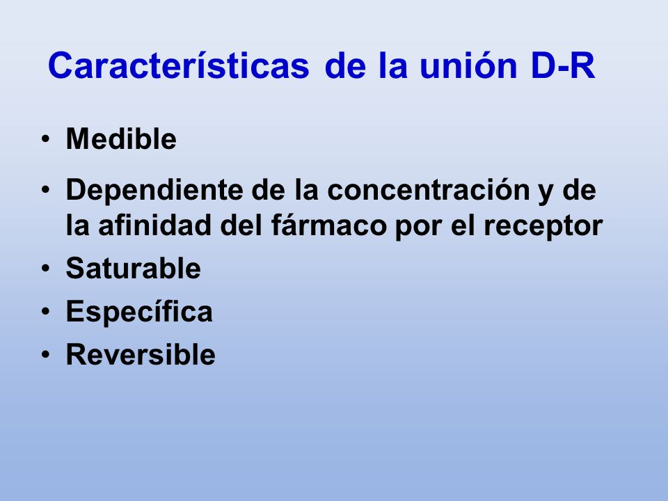 Características de la unión D-R