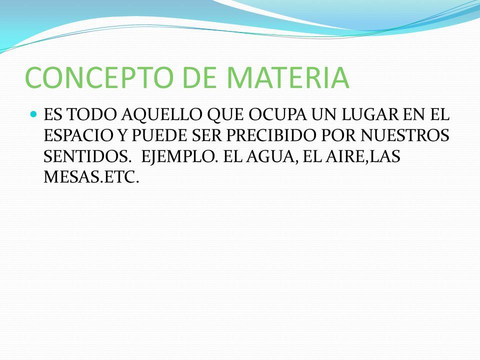 CONCEPTO DE MATERIA