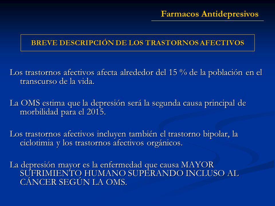 BREVE DESCRIPCIÓN DE LOS TRASTORNOS AFECTIVOS