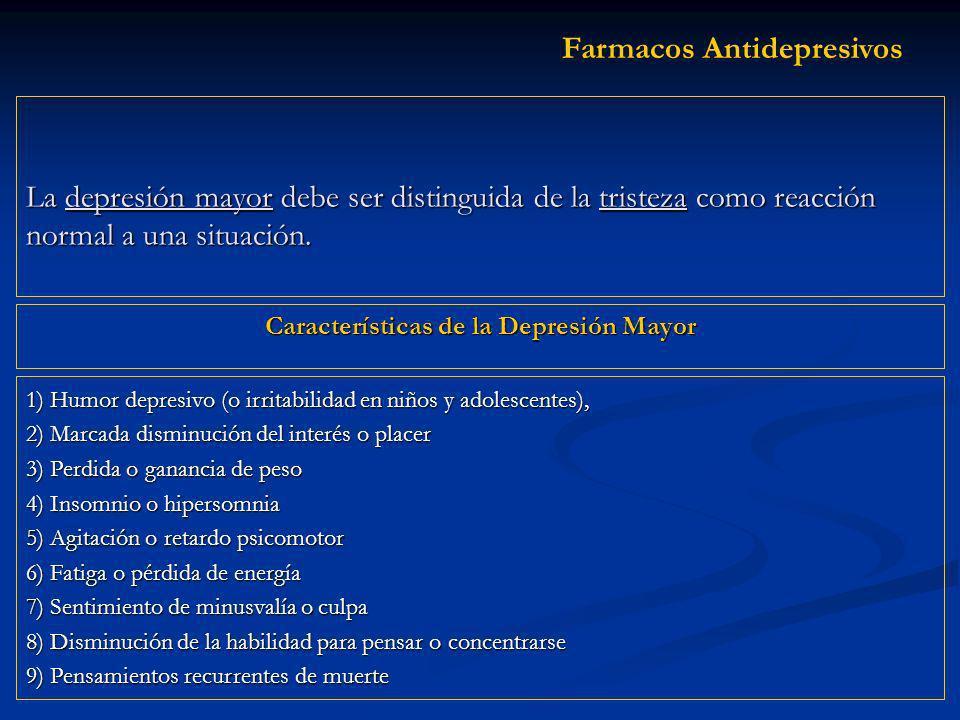 Características de la Depresión Mayor