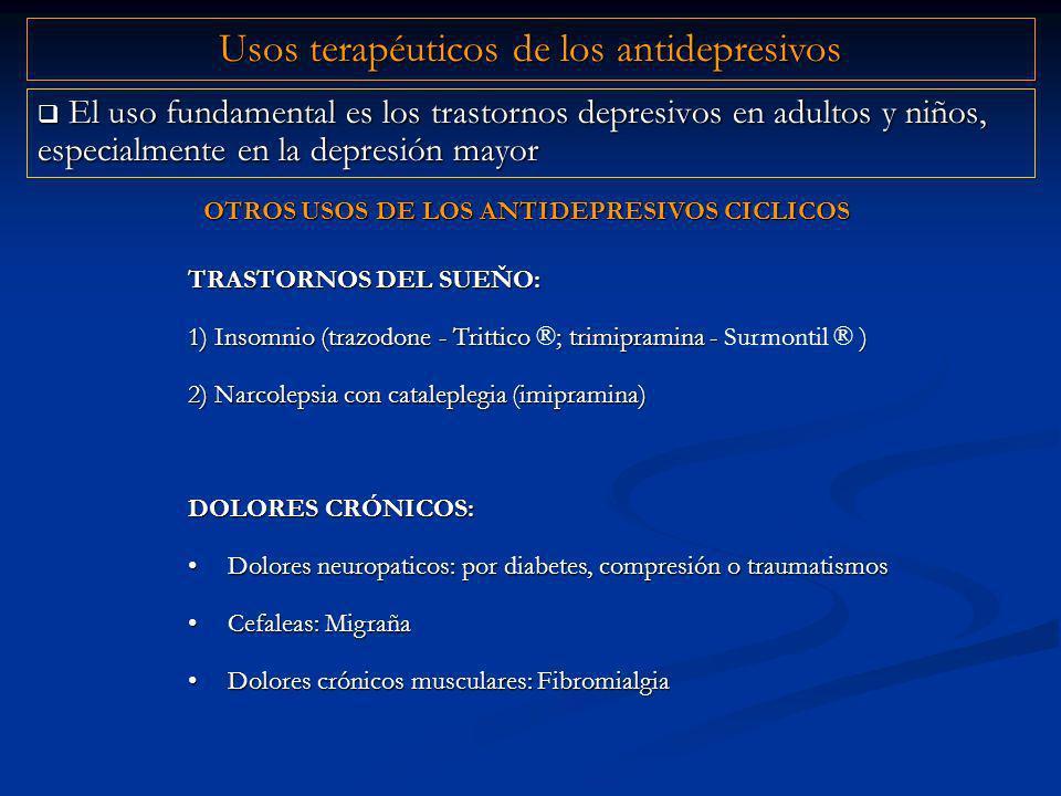 OTROS USOS DE LOS ANTIDEPRESIVOS CICLICOS