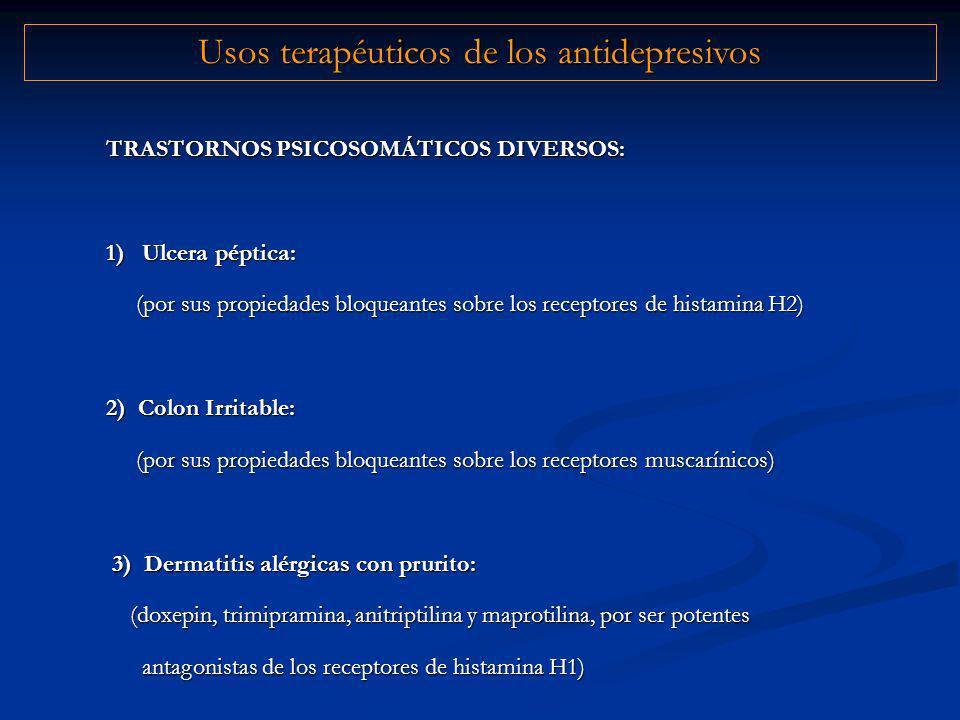 Usos terapéuticos de los antidepresivos