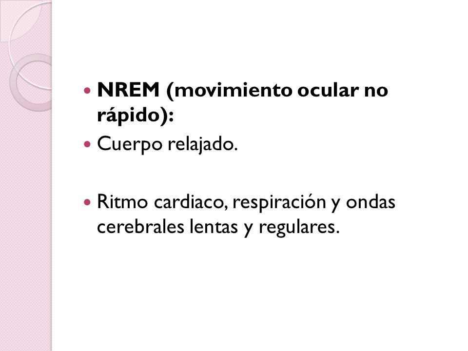 NREM (movimiento ocular no rápido):