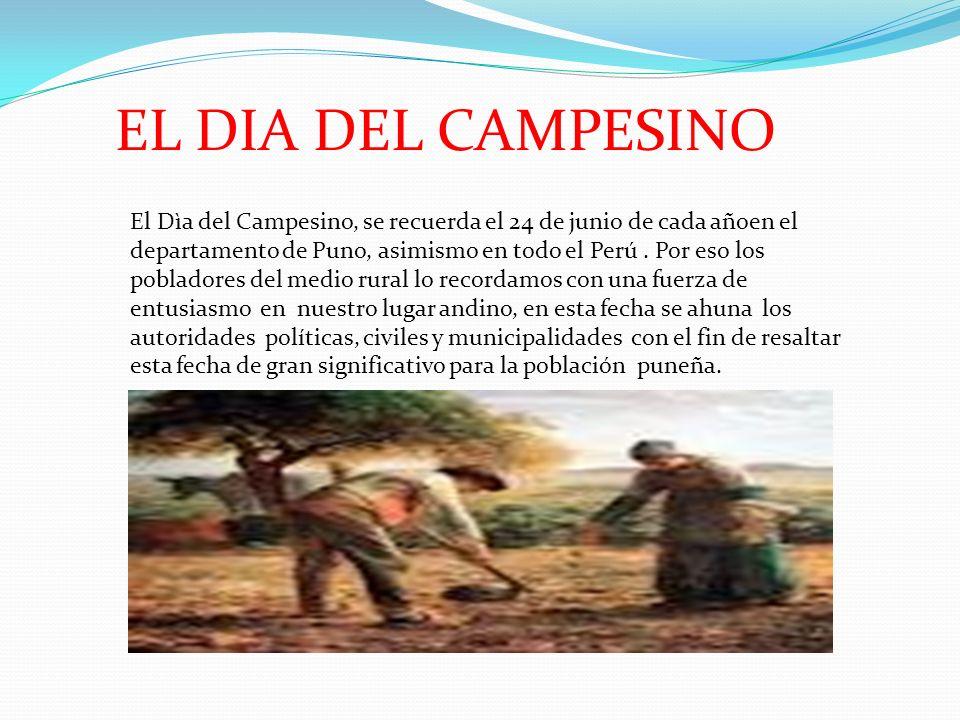 EL DIA DEL CAMPESINO