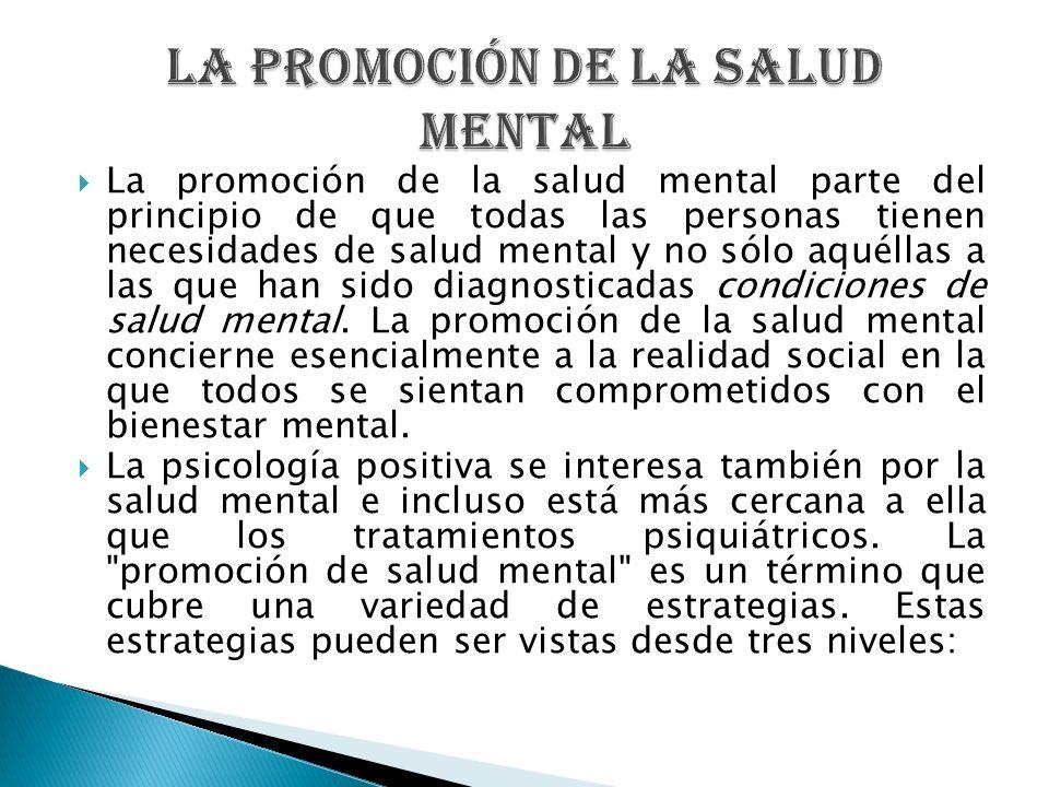 La promoción de la Salud Mental