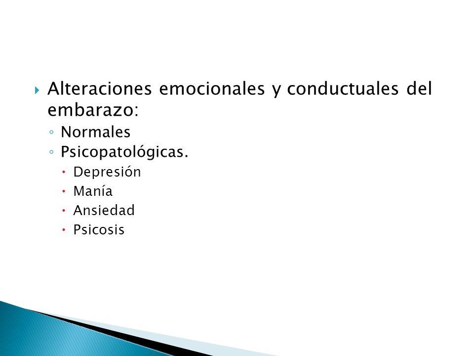 Alteraciones emocionales y conductuales del embarazo: