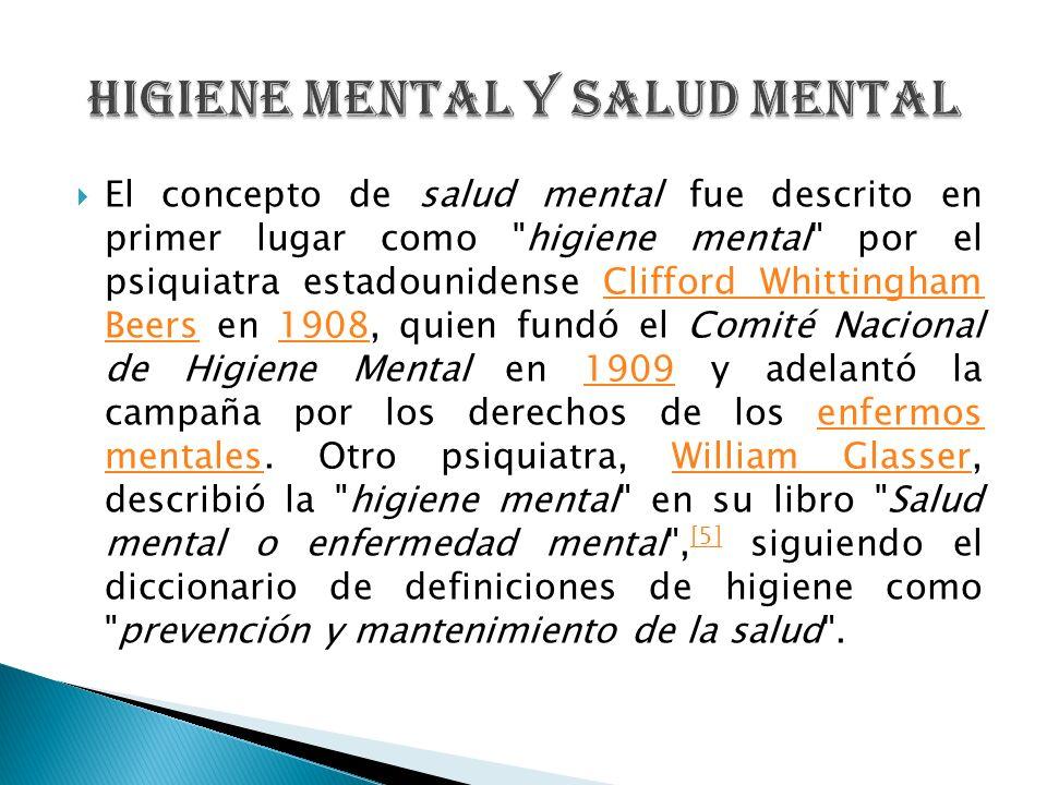 Higiene Mental y Salud Mental