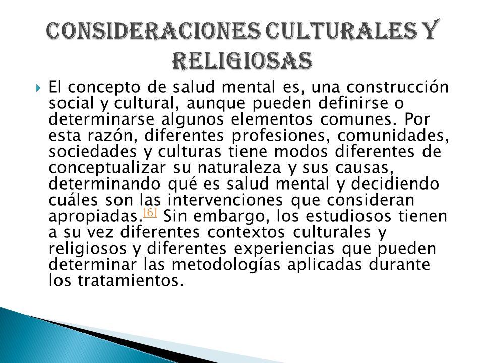 Consideraciones culturales y religiosas