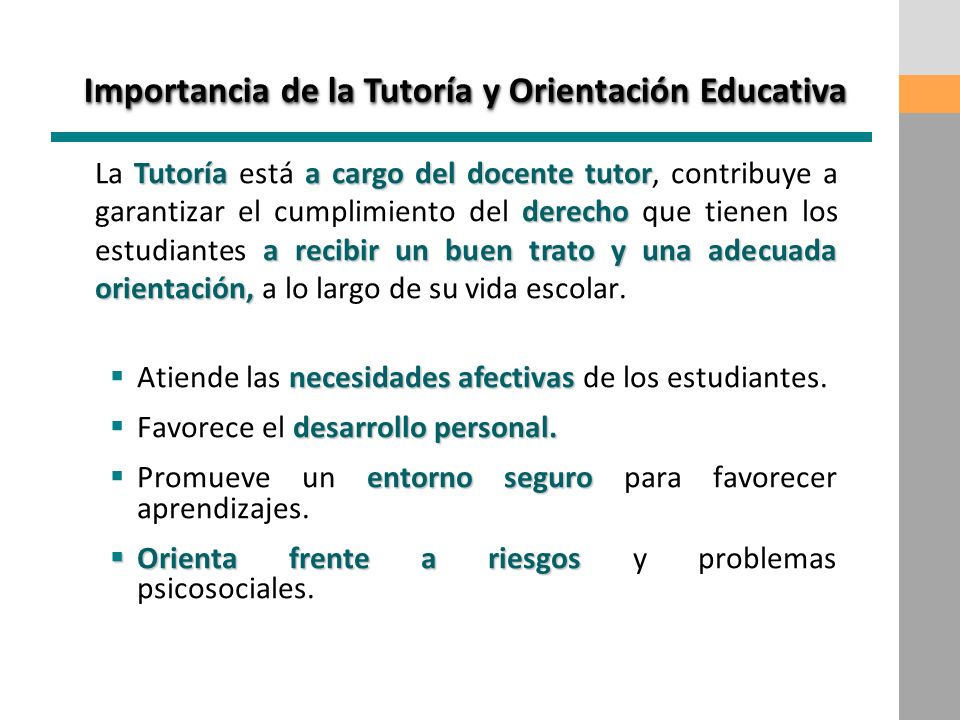 Importancia de la Tutoría y Orientación Educativa
