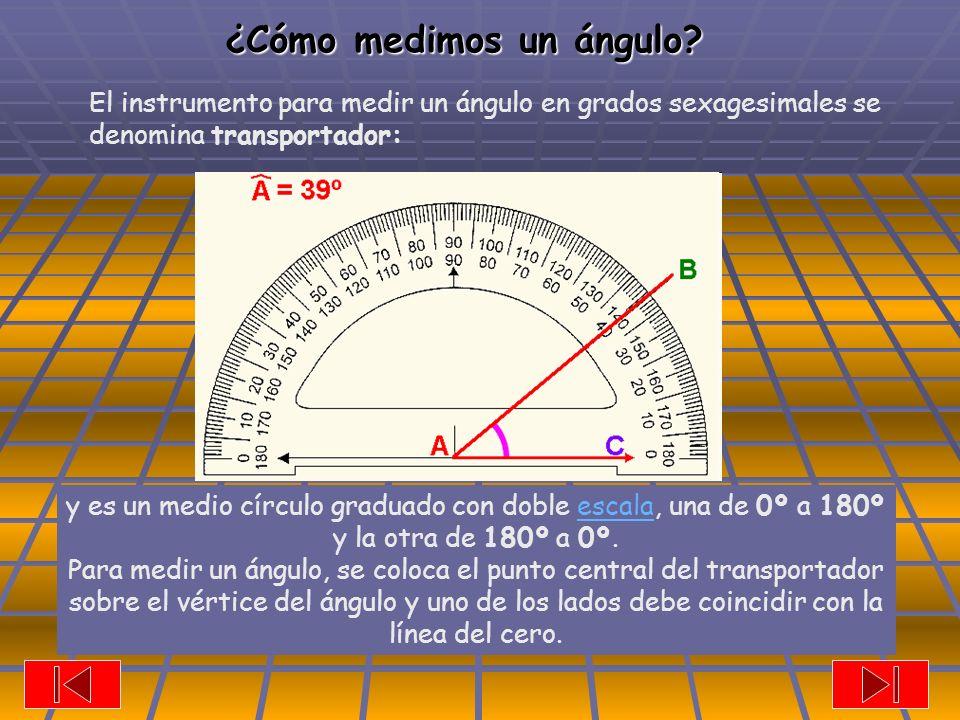 ¿Cómo medimos un ángulo