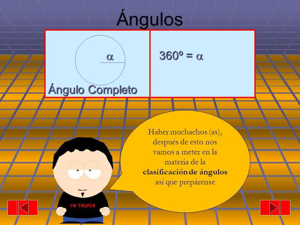 Ángulos  Ángulo Completo 360º = 