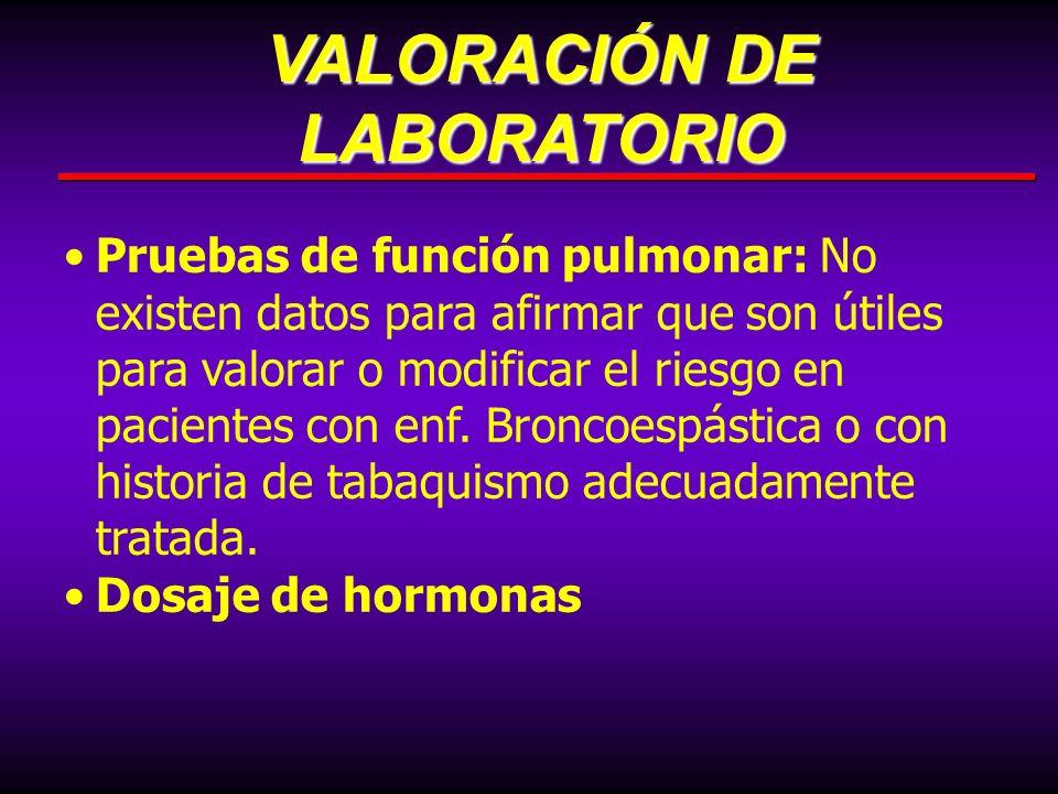 VALORACIÓN DE LABORATORIO