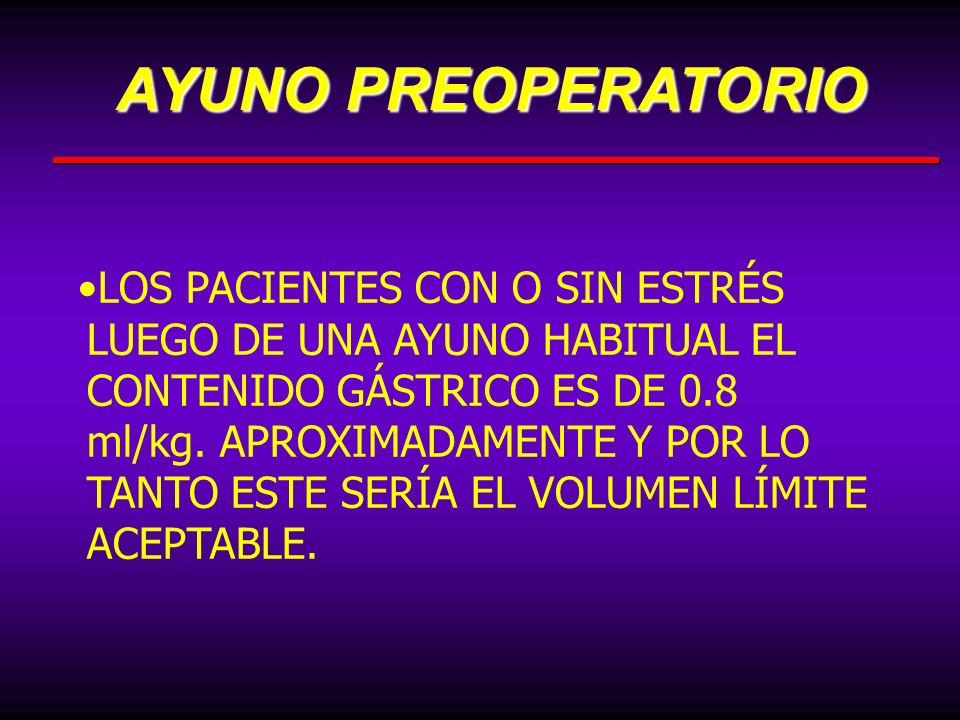 AYUNO PREOPERATORIO