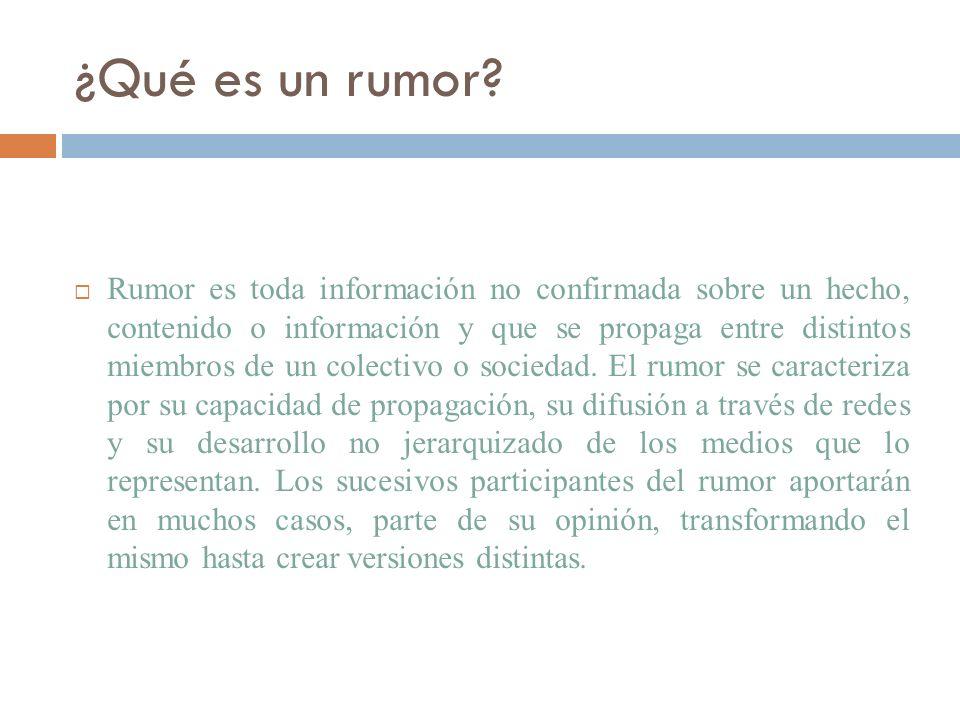 ¿Qué es un rumor