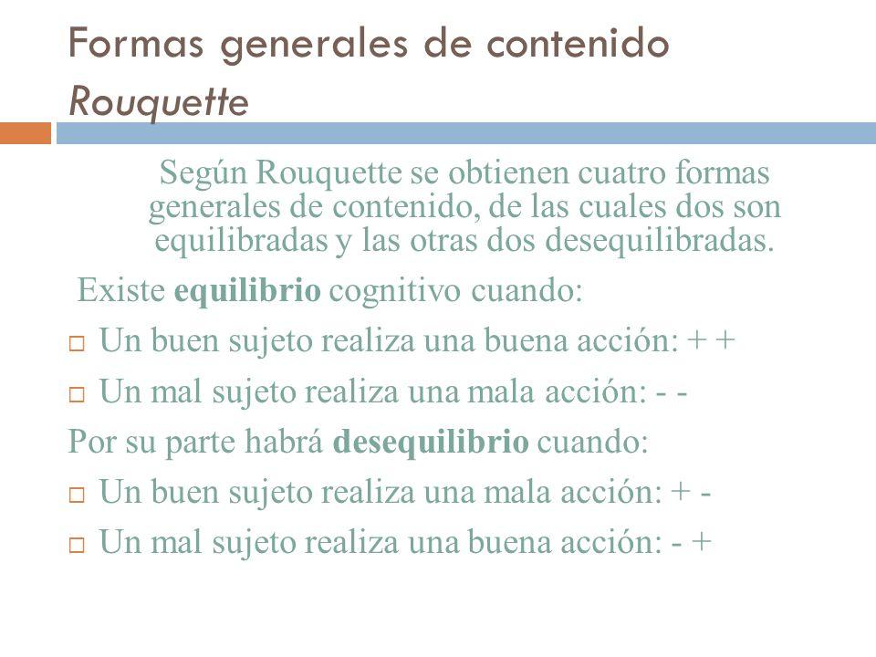 Formas generales de contenido Rouquette