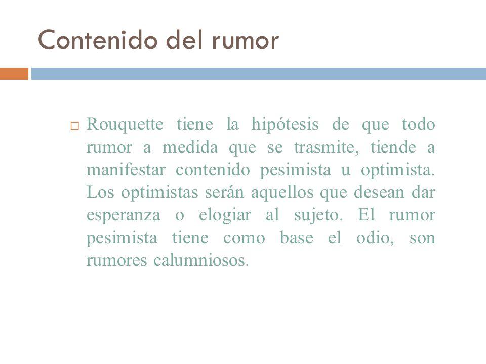 Contenido del rumor
