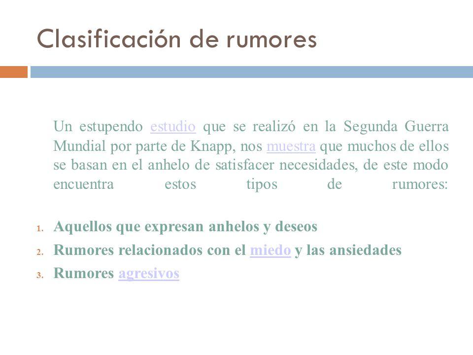 Clasificación de rumores