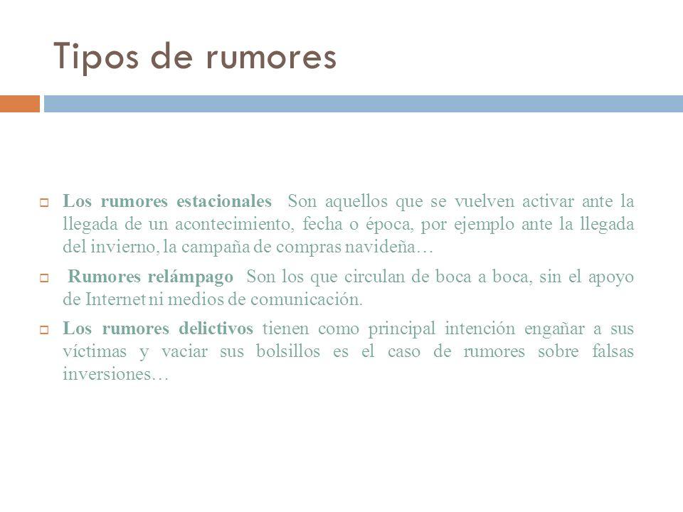 Tipos de rumores