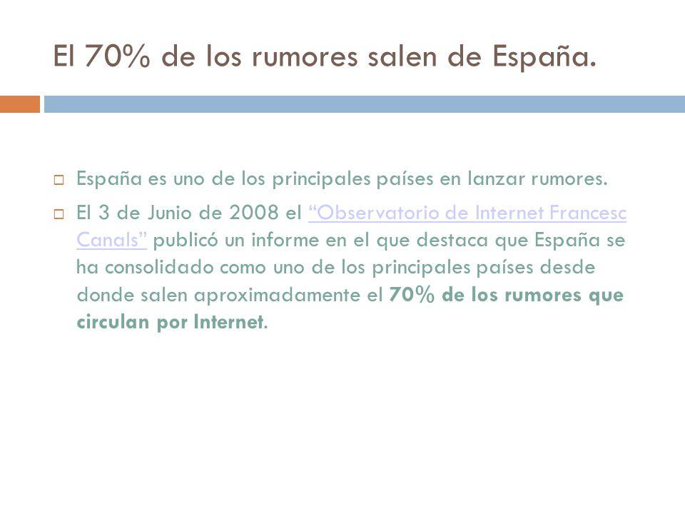 El 70% de los rumores salen de España.