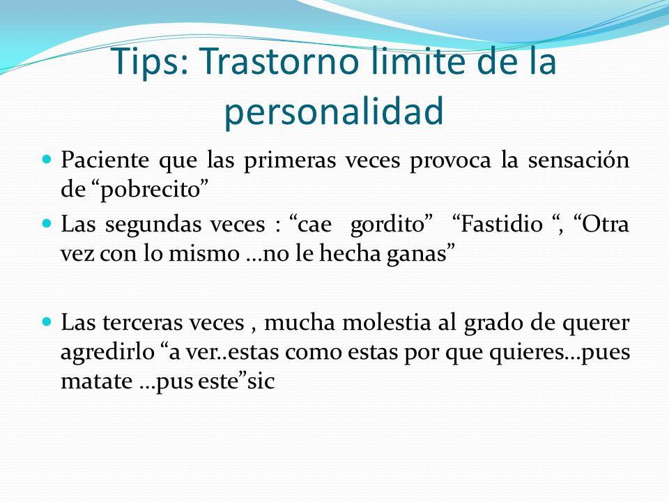 Tips: Trastorno limite de la personalidad