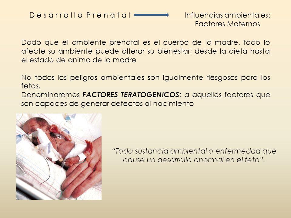 Influencias ambientales: Factores Maternos