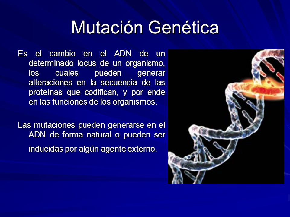 Mutación Genética