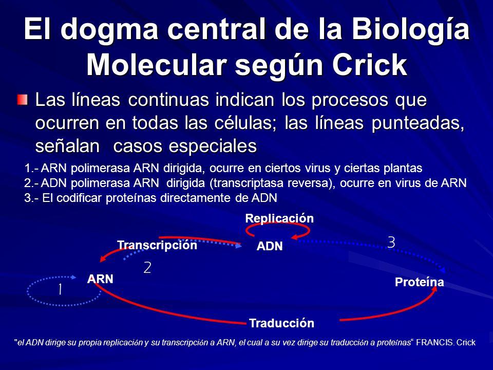 El dogma central de la Biología Molecular según Crick