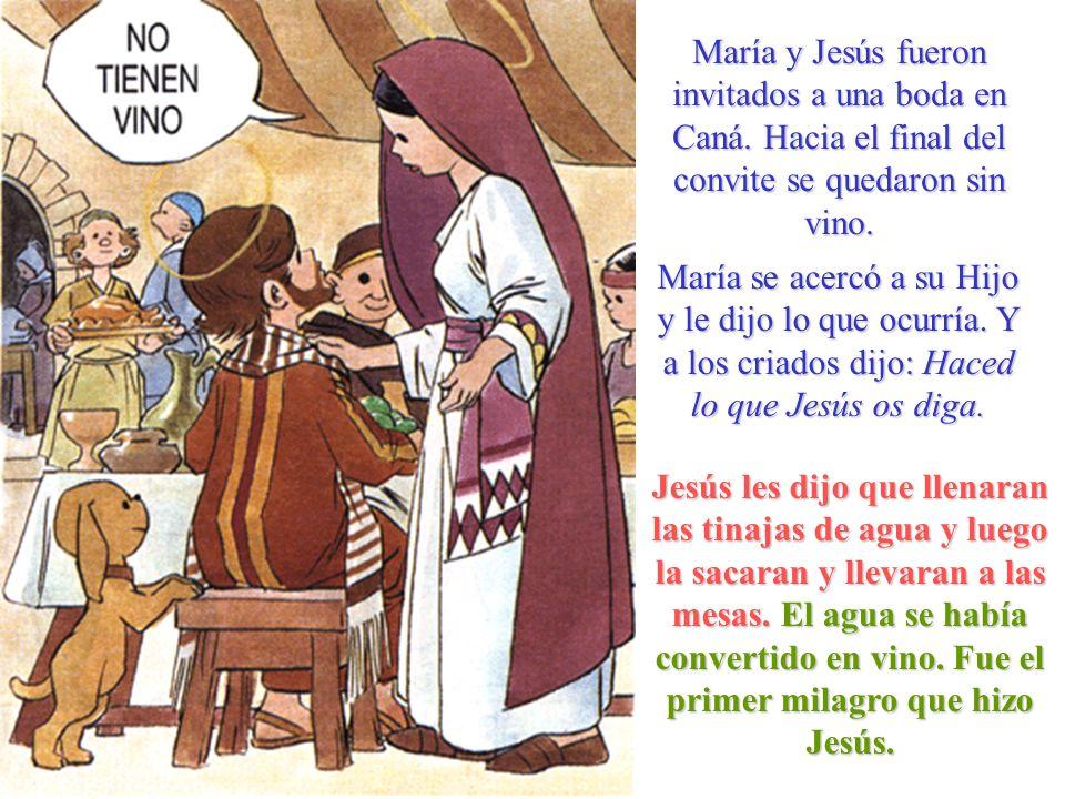 María y Jesús fueron invitados a una boda en Caná