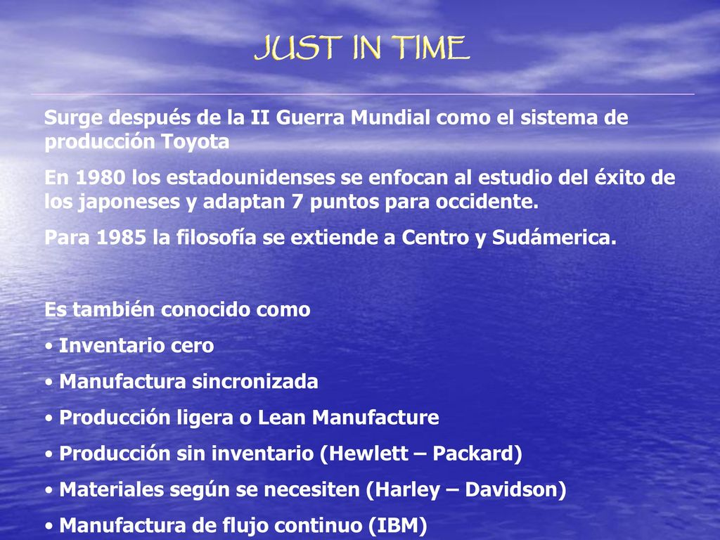 just in time production at hewlettpackard Just-in-time/lean/the theory of constraints/six sigma just-in-time, lean, the theory of constraints, and six sigma are all related  published by what was at the time known as the american production and inventory control  hewlett-packard missed deliveries.