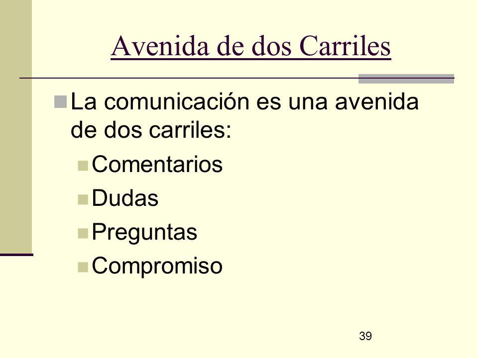 Avenida de dos Carriles