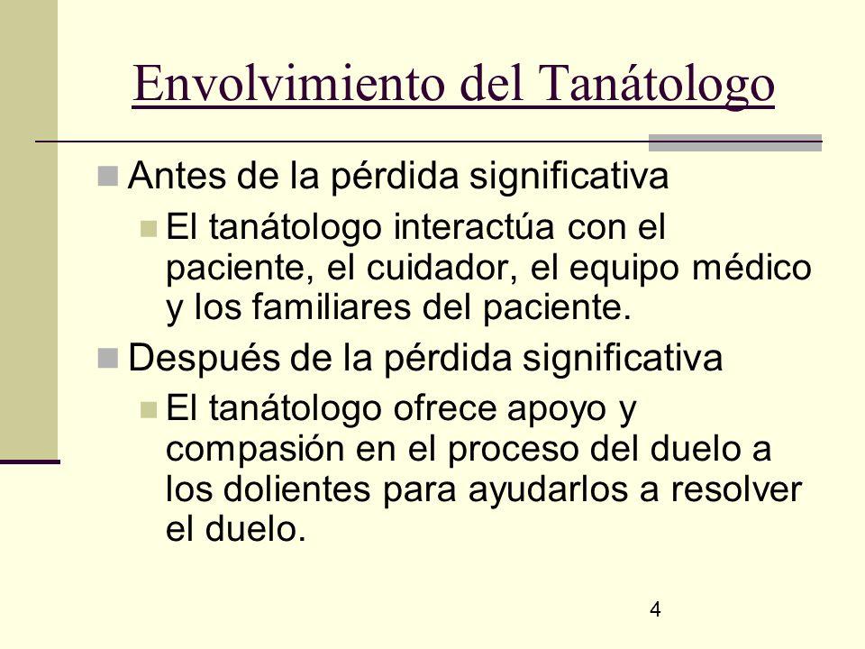 Envolvimiento del Tanátologo