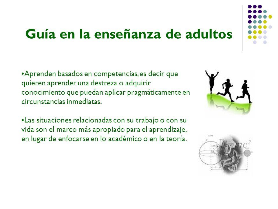 Guía en la enseñanza de adultos