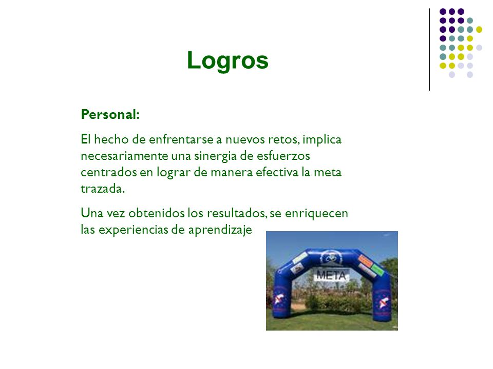 Logros Personal: