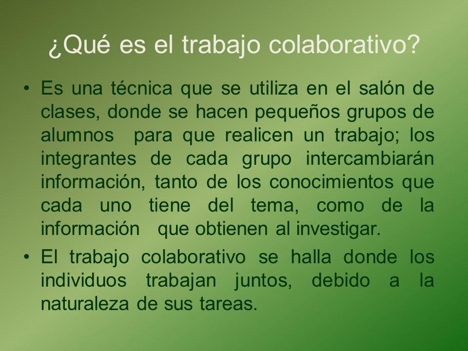 ¿Qué es el trabajo colaborativo