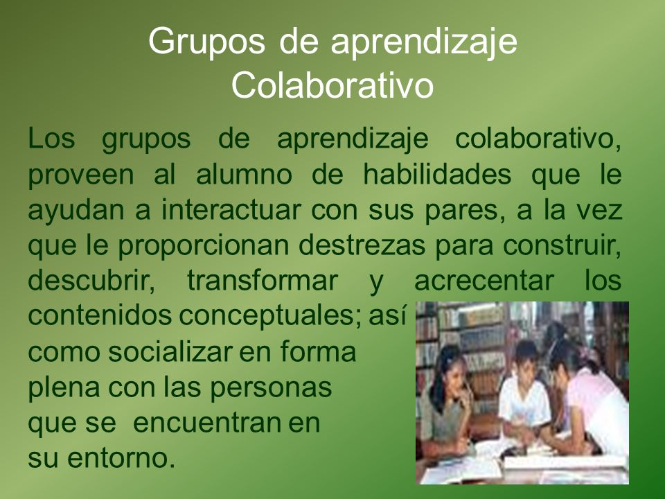 Grupos de aprendizaje Colaborativo