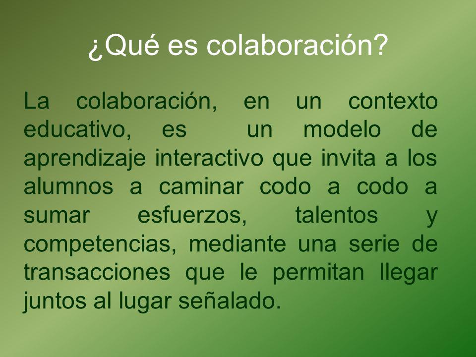¿Qué es colaboración