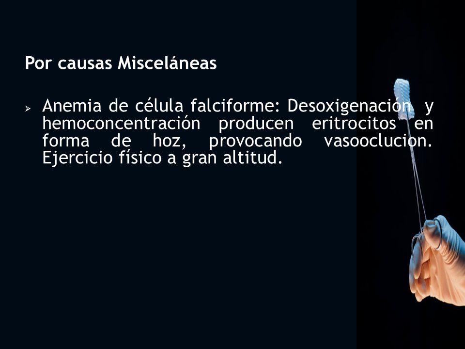 Por causas Misceláneas