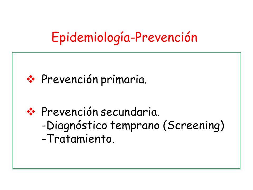 Epidemiología-Prevención