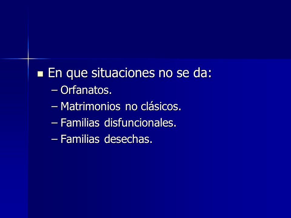 En que situaciones no se da: