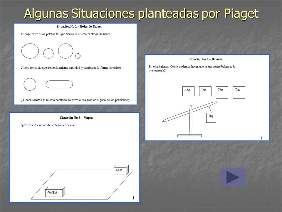 Algunas Situaciones planteadas por Piaget