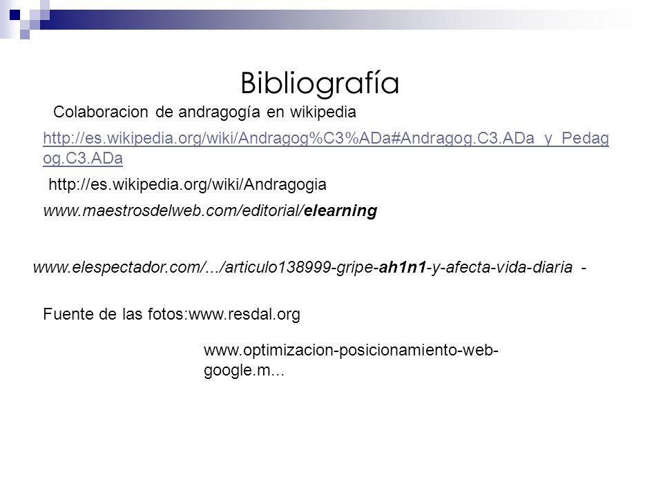 Bibliografía Colaboracion de andragogía en wikipedia