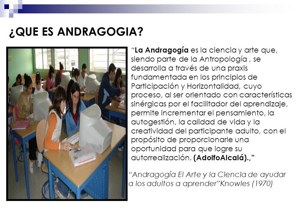 ¿QUE ES ANDRAGOGIA