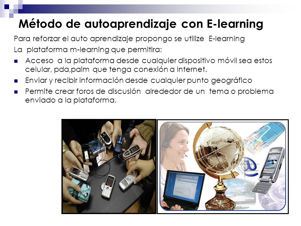 Método de autoaprendizaje con E-learning