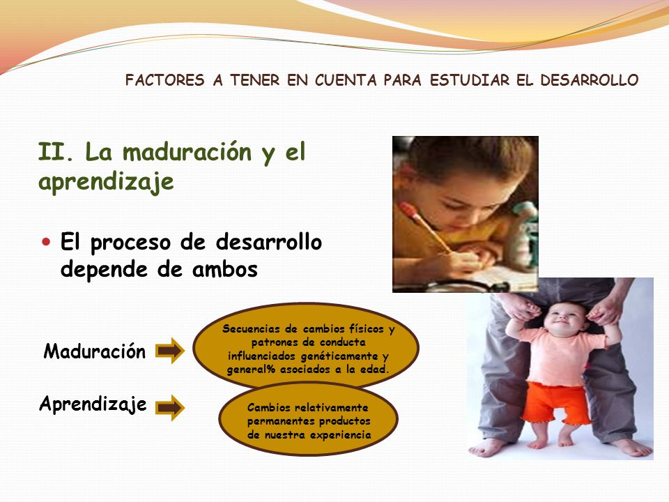 FACTORES A TENER EN CUENTA PARA ESTUDIAR EL DESARROLLO
