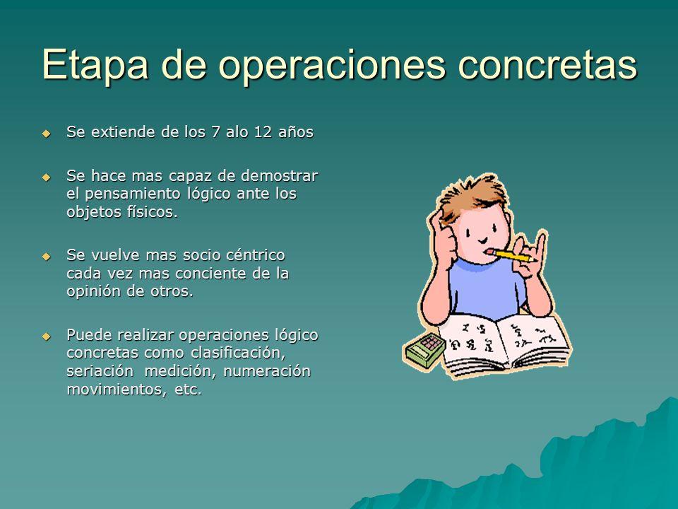 Etapa de operaciones concretas