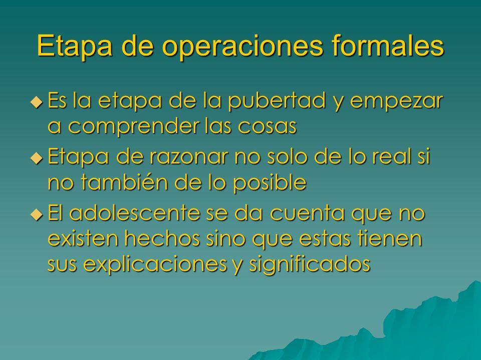 Etapa de operaciones formales