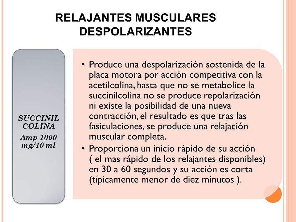 RELAJANTES MUSCULARES DESPOLARIZANTES