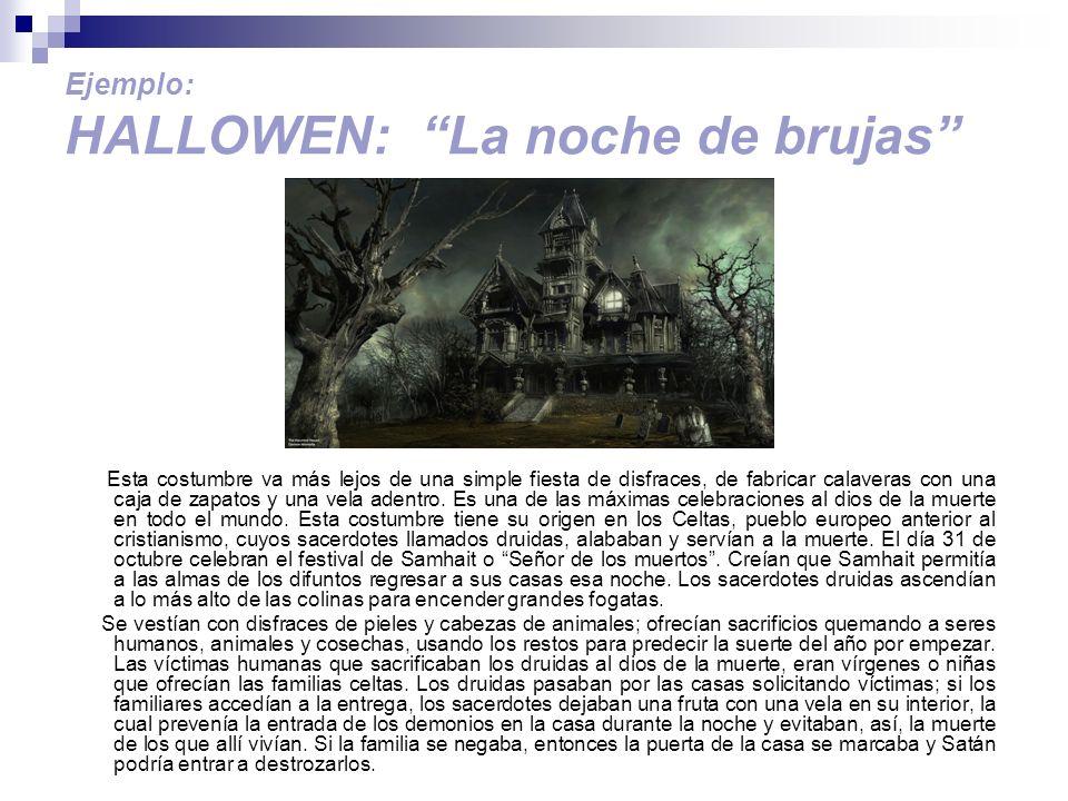 Ejemplo: HALLOWEN: La noche de brujas