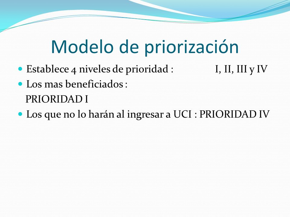 Modelo de priorización