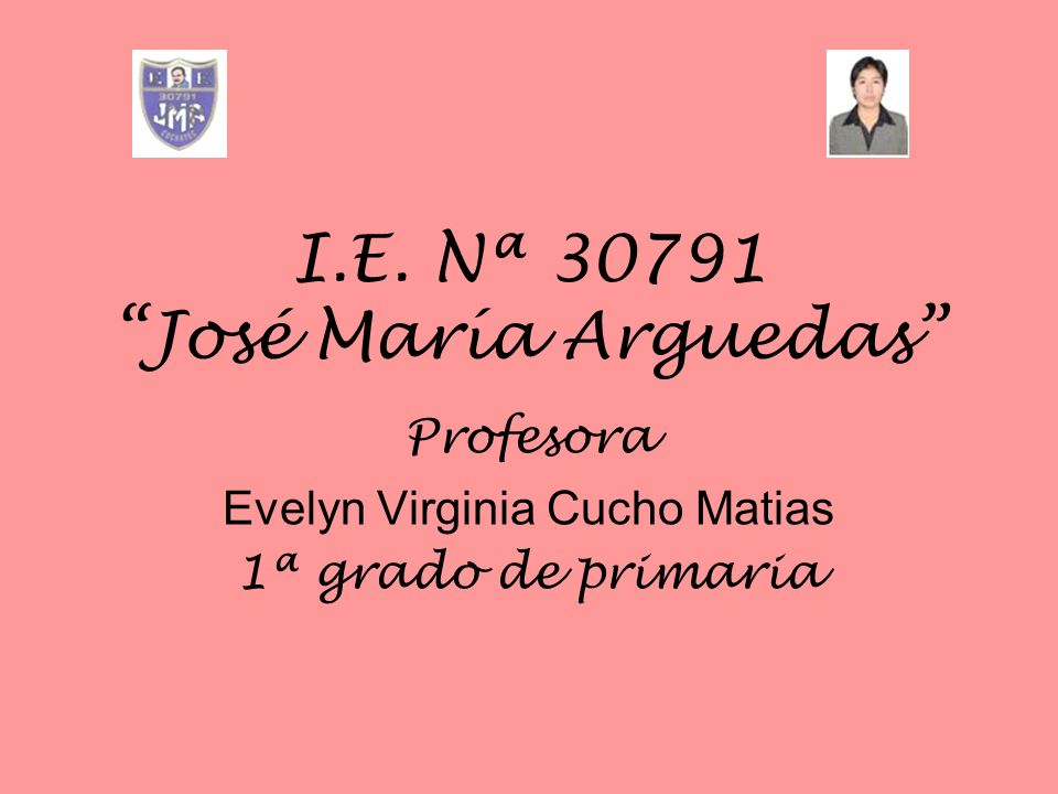 I.E. Nª 30791 José María Arguedas